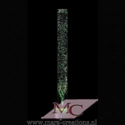 Bubbelbuis / Bubbelunit Ø: 10 cm, H: 150 cm, Wanddikte 5 mm, Verlichting: LED, kleur wit, Voet: Rond, Kleur voet: Zwart.