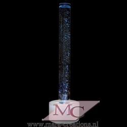Bubble-Unit Ø: 15 cm, Totale hoogte: 145 cm, Wanddikte 5 mm, Verlichting: Autom. kleurenwisseling, Voet: Rond, kleur wit.