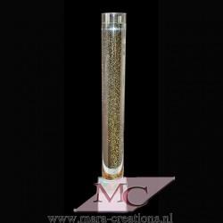 Bubbelbuis / Bubbelunit Ø: 20 cm, H: 170 cm, Wanddikte 5 mm, Verlichting: Autom. kleurenwisseling, Voet: Vierkant, kleur wit.