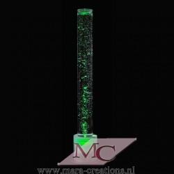 Bubble-Unit Ø: 30 cm, Totale hoogte: 145 cm, Verlichting: Autom. kleurenwisseling, Voet: Kleur wit.