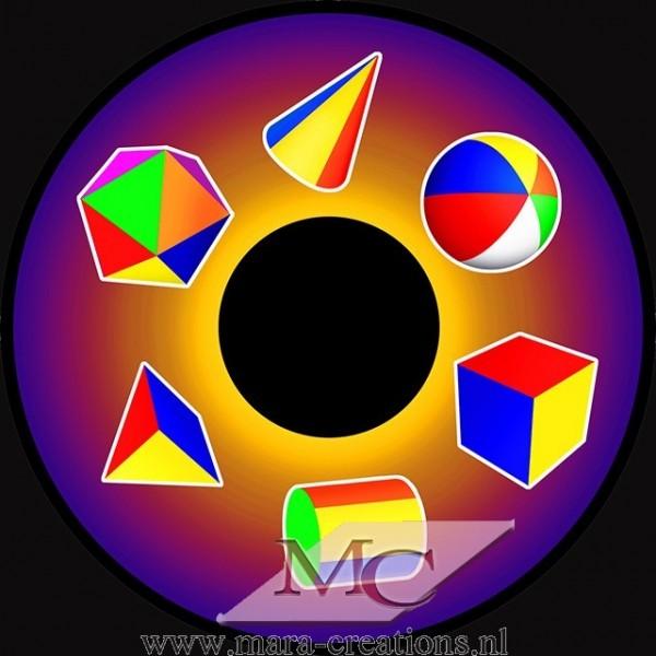 """-OPTI- Effectwiel Beeldwiel/Beeldschijf """"3D SHAPES"""""""