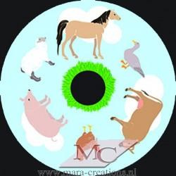 """Effectwiel """"OPTI"""" Beeldwiel/Beeldschijf: FARM ANIMALS"""