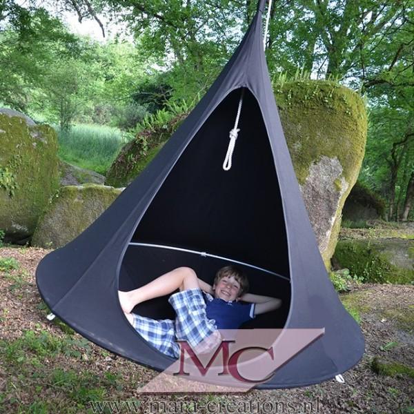 """Snoezel-Tent """"GORTEL"""" kleur: Zwart, Ø 1.50 mtr."""